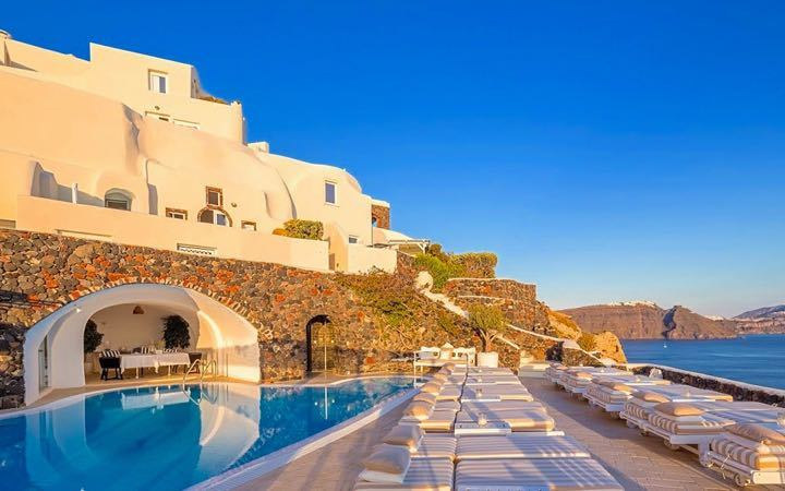 Canaves Oia Suites in Santorini.