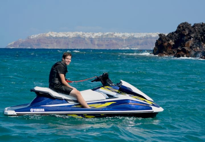 The most adventurous and fun thing to do in Santorini: Jet Ski To The Volcano