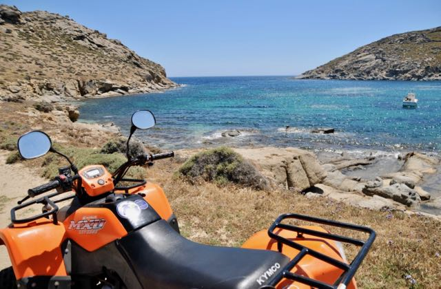 ATV and bike rental in Mykonos.