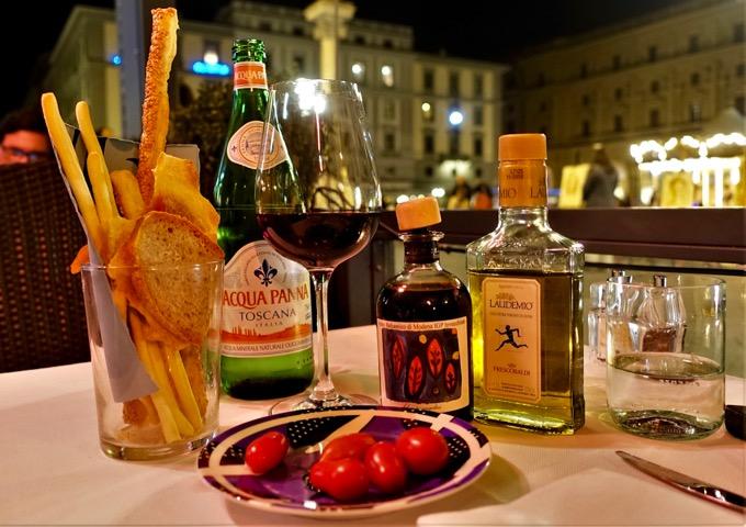 Florence fine dining Piazza della Repubblica