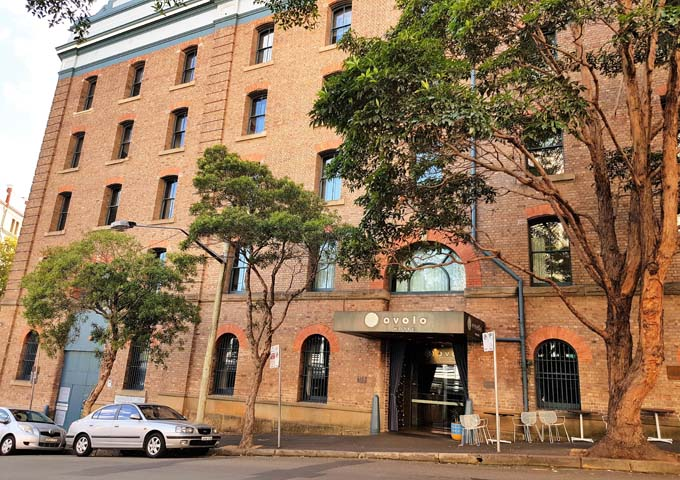 Ovolo Darling Harbour Hotel is in a 130 year old building