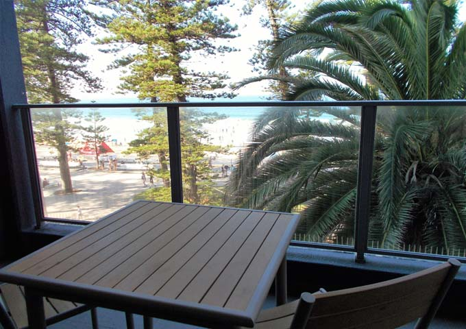 North Tower rooms have beach views and balconies