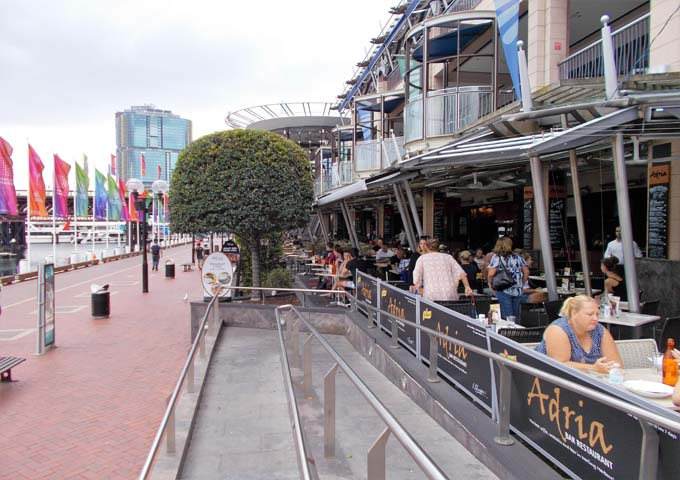 Several cafes and bars along the harbour