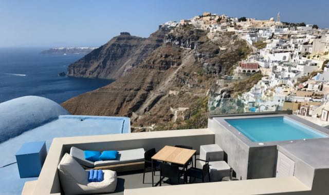 Private villa in Fira, Santorini.