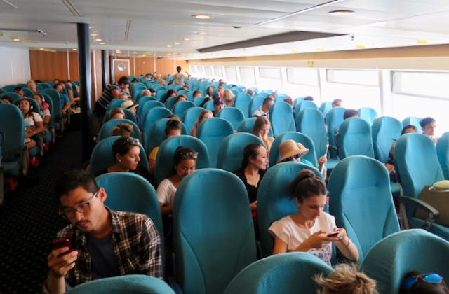 Greek Ferry Seat Types