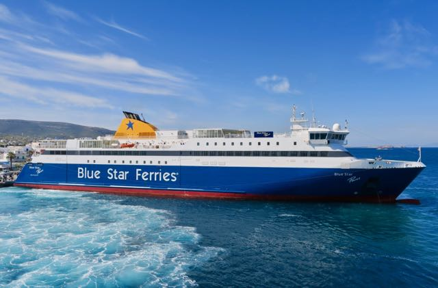 Blue Star Greek Ferry.