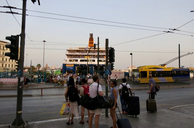 Piraeus Ferry Port in Athens