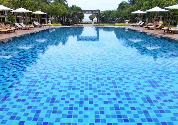 Large pool in wonderfully-designed adults-only Layana Resort