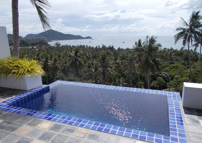 Private pool with stunning view of the bay at The Plantation