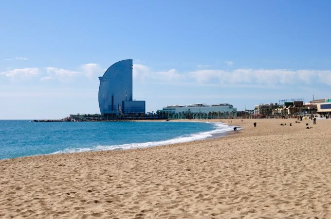 Barcelona Beach Hotel close to downtown.