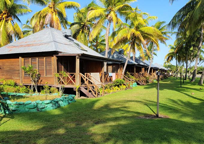 Lovely traditional-style bungalows at Club Fiji.