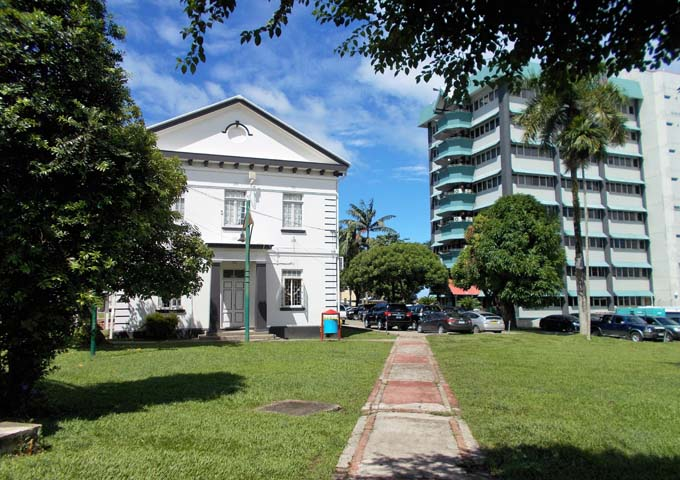 Suva has a good mix of old and new architecture.
