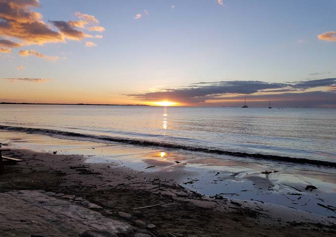 Wailoaloa beach is unclean but popular especially during sunsets.