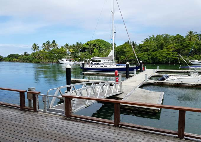 The resort marina is used for water sports and boat trips.