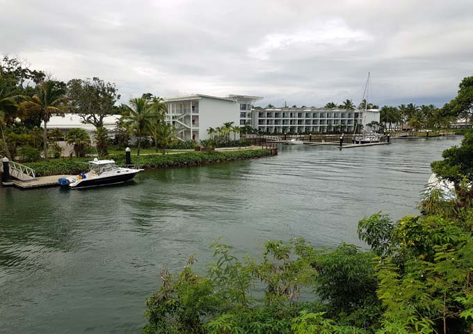 The resort is located in an upmarket Pacific Harbour area