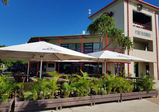 Hard Rock Café at Port Denarau is located away from the water.