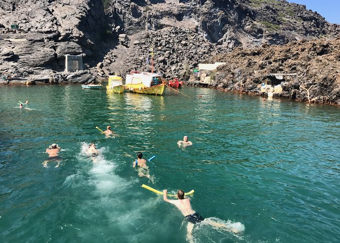 Hot springs and volcano boat tours.
