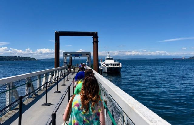 Seattle to Bremerton fast ferry.