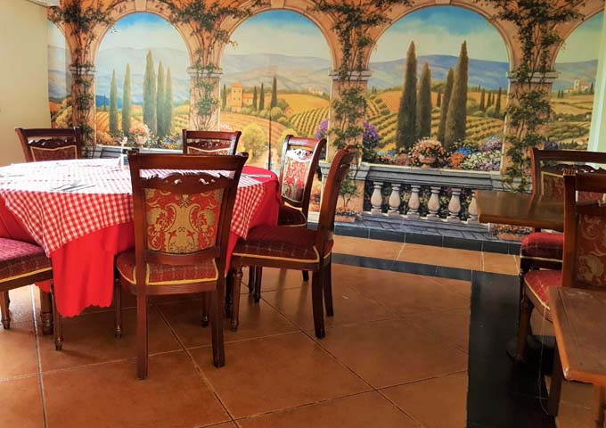 Little Italy serves good Italian food in a traditional setting.