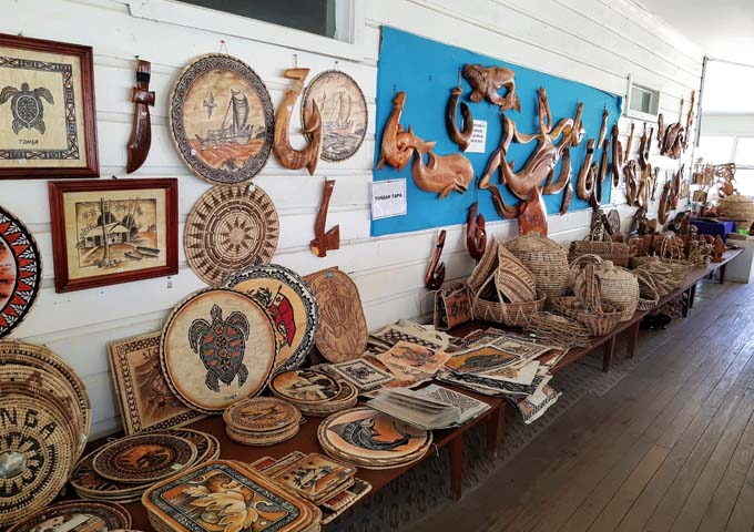 Authentic souvenirs can be found at the Handicrafts Centre.