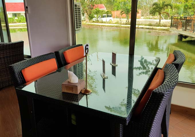 Little India has excellent indoor and outdoor seating by a lily pond.