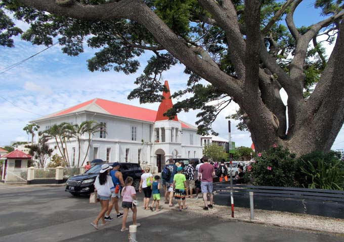 Capital exudes old-world charm through churches and trees.