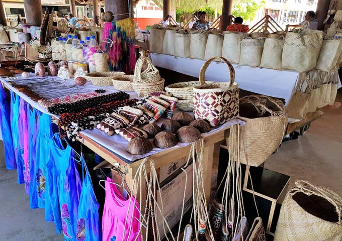 The souvenir market in Port Vila is a must-visit.