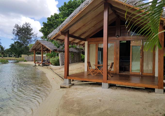 Waterfront Deluxe Spa Villas are right on the water.