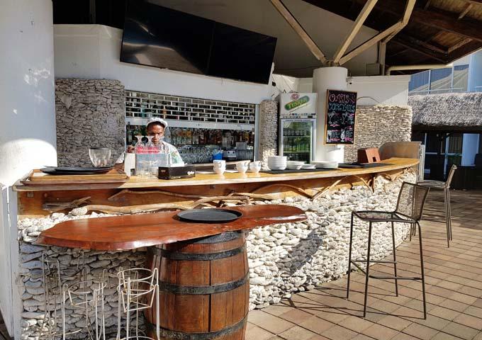 The Melanesian Resort nearby has good restaurants and bars.