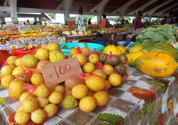 The produce market in Port Vila is worth a visit.