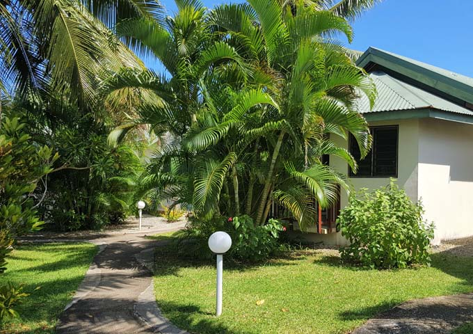 Bungalows offer privacy due to the thick palms everywhere.