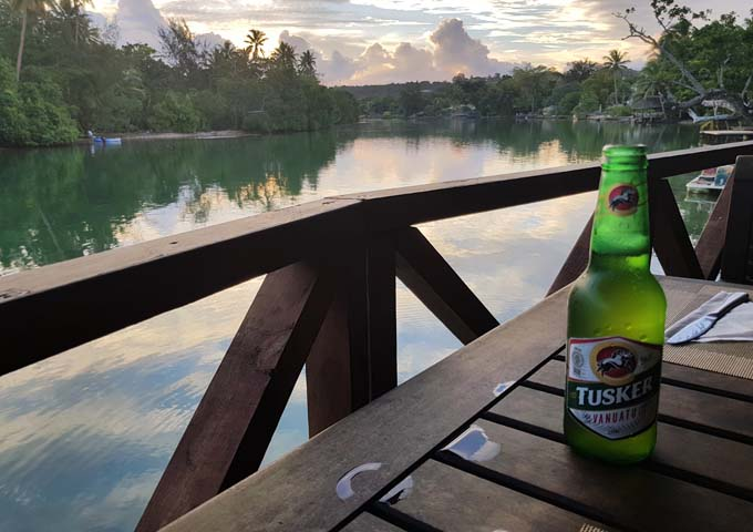 Having a chilled Tusker beer at the Lagoon Bar & Grill is perfect.