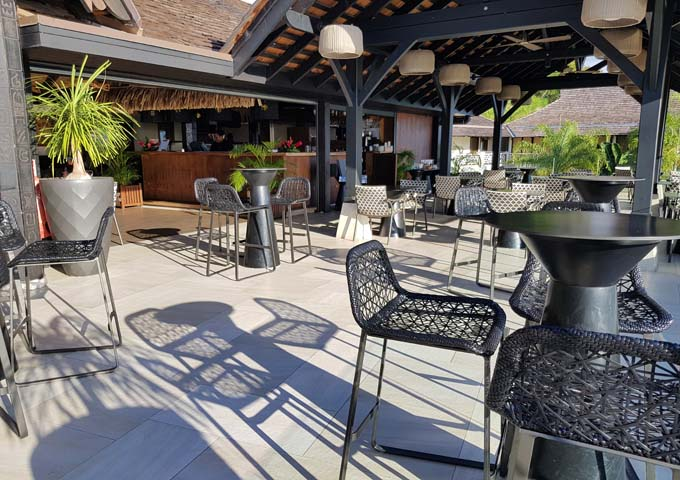 The Lobby Bar features outdoor seating with excellent views.