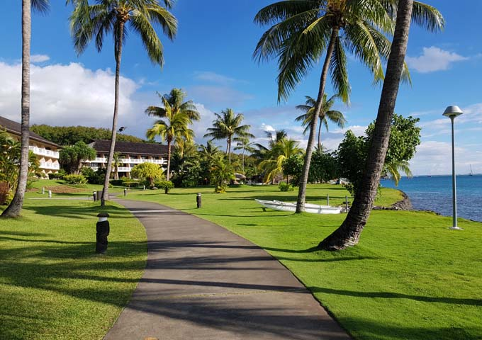The vast resort grounds are very appealing.
