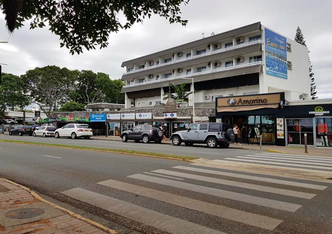The Anse Vata esplanade has a lot of shops and eateries.