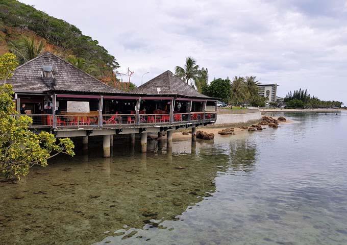 La Bodega del Mar is located on the Anse Vata pier.