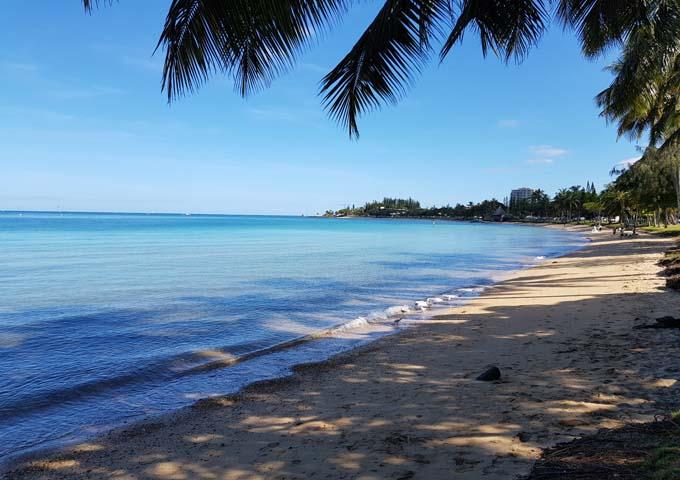 The Anse Vata beach has a tropical vibe.