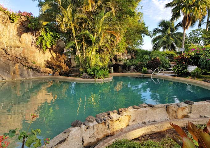 Pool with tropical vibe at family-friendly Royal Tahitien Hôtel.