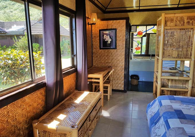 Bungalows have dated furniture but modern facilities.
