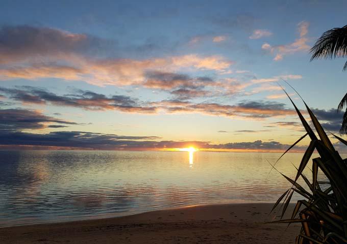 Hauru offers better sunset views.