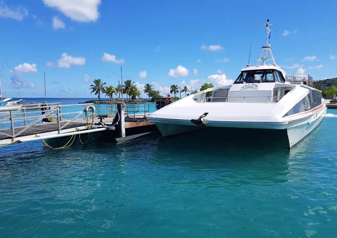 Free transfers by boat are offered to all air passengers.