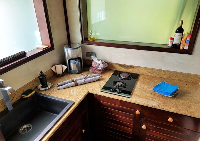 Bungalows also feature a delightful kitchenette.