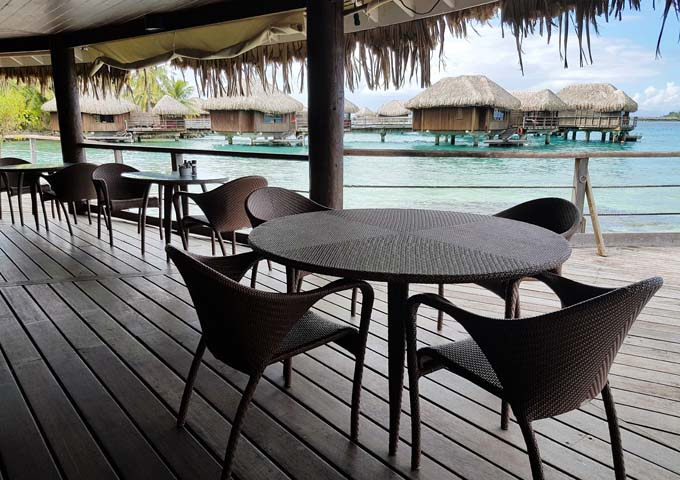 The bar features sea-facing seats.