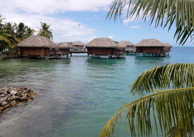 Many overwater bungalows are currently being renovated.