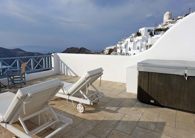 The suite's private balcony offers great views.