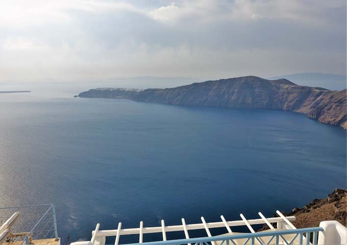 The caldera view from the hotel is amazing.
