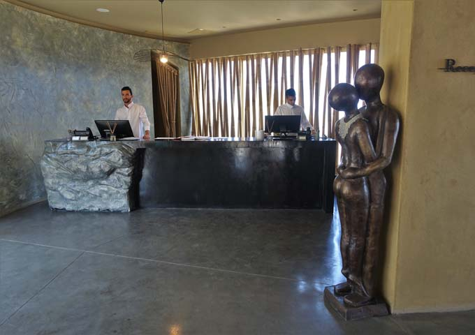 The hotel's reception is staffed 24/7.