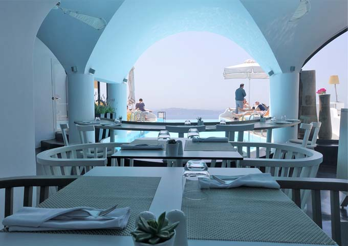 Chroma Restaurant by the pool serves creative Mediterranean dishes.