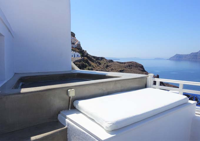 The Honeymoon Suite's balcony features a plunge pool.