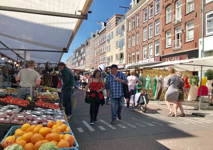 Albert Cuyp Market is Amsterdam's largest outdoor market spanning 3 city blocks.